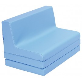 Canapea din spuma, extensibila - albastru
