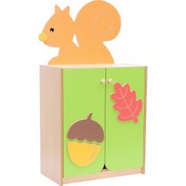 Dulap cu aplicatie colorata - veverita – Forest