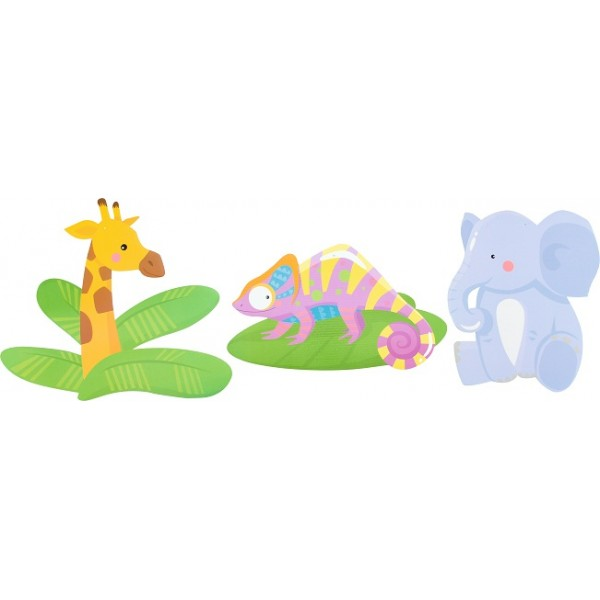Set decoratiuni pentru perete – Jungle -  Zoo