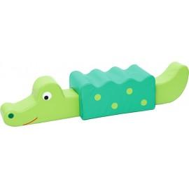Taburet cu elemente senzoriale – Crocodil – Zoo