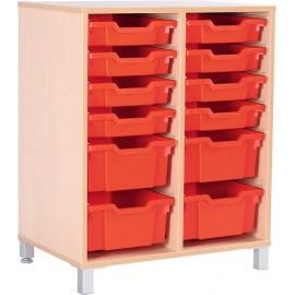 Dulap D pentru cutii de depozitare, cu picioare