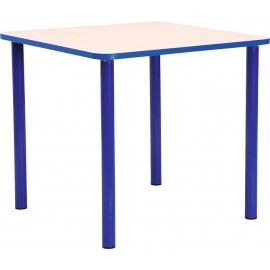 Masa gradinita - patrata - cu cant colorat, marimea 0 - albastru