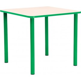 Masa gradinita - patrata - cu cant colorat, martimea 1 - verde