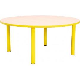 Masa gradinita - rotunda - cu cant colorat, marimea 0 - galben