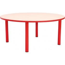 Masa gradinita - rotunda - cu cant colorat, martimea 2 - rosu
