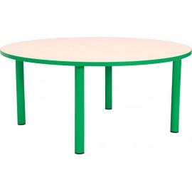 Masa gradinita - rotunda - cu cant colorat, martimea 2 - verde
