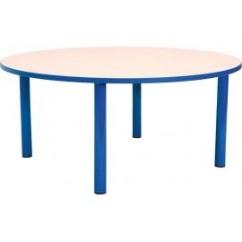 Masa scolari - rotunda - cu cant colorat, marimea 3 - albastru