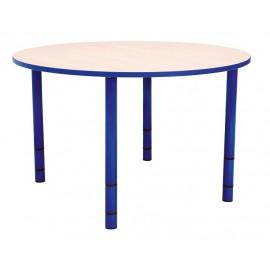 Masa gradinita Bambino, rotunda - inaltime reglabila - marimea 0-3 – cant albastru