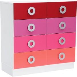 Dulap Colores pentru 8 sertare inguste