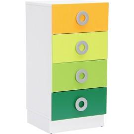Dulap Colores pentru 4 sertare inguste