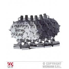 Suflatoare Happy New Year argintie