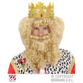 Peruca rege cu barba si mustata