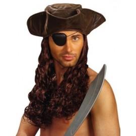 Peruca pirat cu palarie