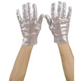 Manusi argintii paiete