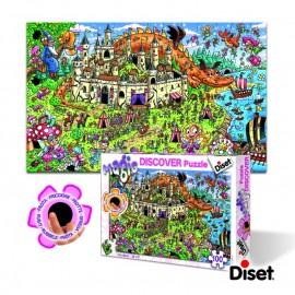 Diset - Puzzle Descopera magia -Catelul Printesei