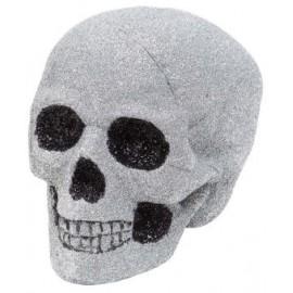 Cap schelet argintiu glitter