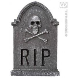 Piatra funerara schelet si oase