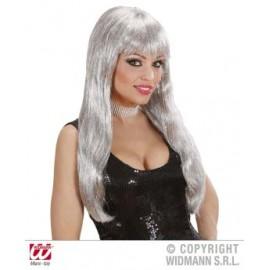 Peruca glamour argintie