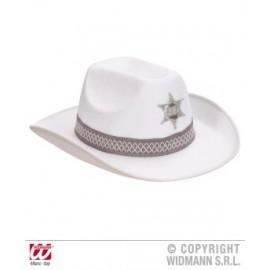 Palarie sheriff alba