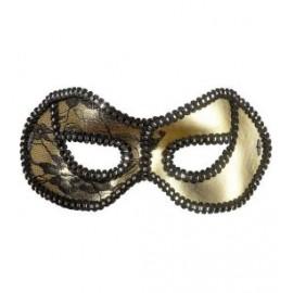 Masca negru/auriu dantela