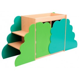 Dulap multifunctional cu decor verde - Sensory Collection