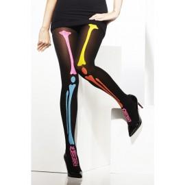 Ciorapi schelet neon - marimea 158 cm
