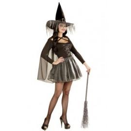 Costum vrajitoare silver Marime S