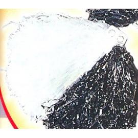Pom Pom DELUXE bicolor Alb + Negru