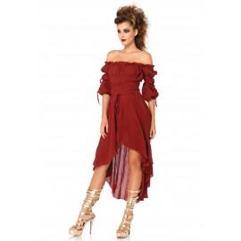 Costum rochie burgundy