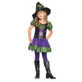 Costum vrajitoare - Marime L - 10 - 12 ani