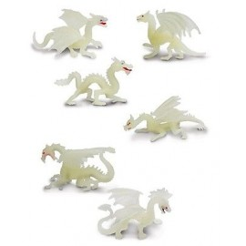Tub 6 figurine - Dragoni fosforescenti