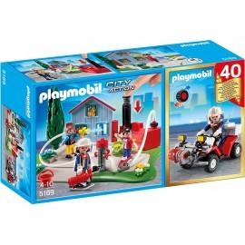 Set aniversar playmobil - brigada de pompieri si vehicul