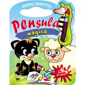 Animale domestice. Pensula magica - carte de colorat