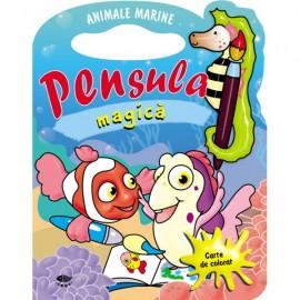 Animale marine. Pensula magica - carte de colorat