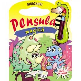 Dinozauri. Pensula magica - carte de colorat