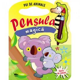 Pui de animale. Pensula magica - carte de colorat