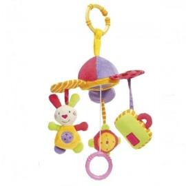 Carusel muzical iepuras, ceas & gentuta brevi soft toys