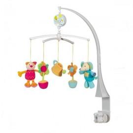 Carusel muzical pisicuta, elefant & flori brevi soft toys