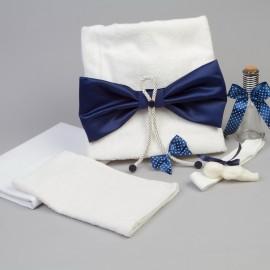 Trusou botez funda bleumarin