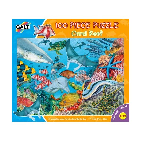 Puzzle Galt 100 piese - Reciful de corali / Coral Reef