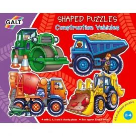 Puzzle Galt - Vehicule pentru constructii / Construction Vehicles
