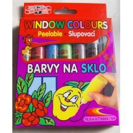 Set 7 culori pentru pictat pe sticla