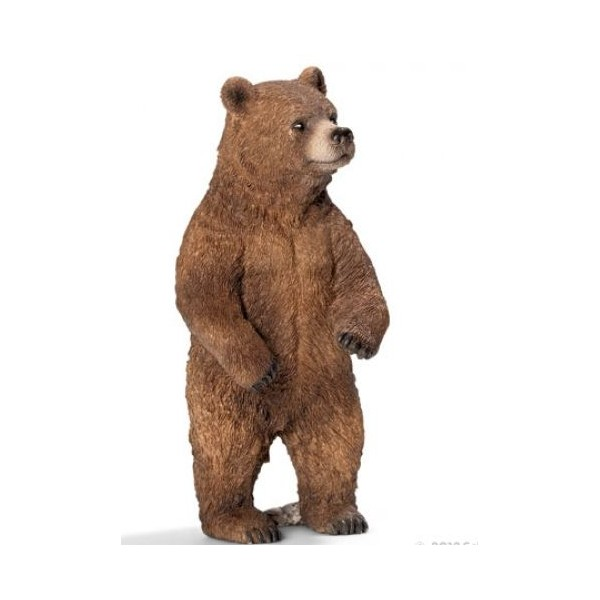 Figurina animal urs grizzly, femela