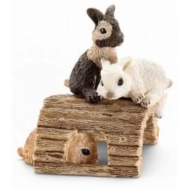 Figurine animale iepuri tineri jucanduse