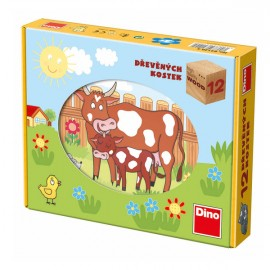 Puzzle cubic - animale de la ferma