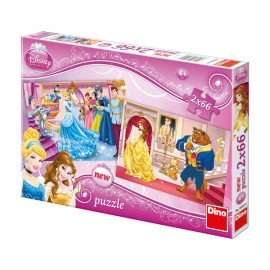 Puzzle 2 in 1 - printese (66 piese)