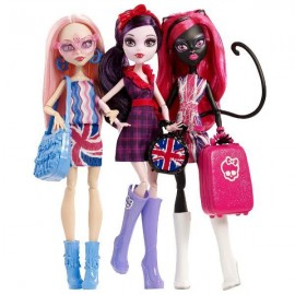 Set 3 papusi Monster High - Ghoulebrities in Londoom