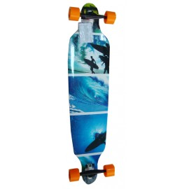 Longboard Surfer Blue 42""