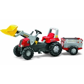 Tractor cu pedale, remorca si cupa - Rolly Toys Junior