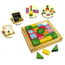Im Toy - Joc de constructie si tablita din lemn